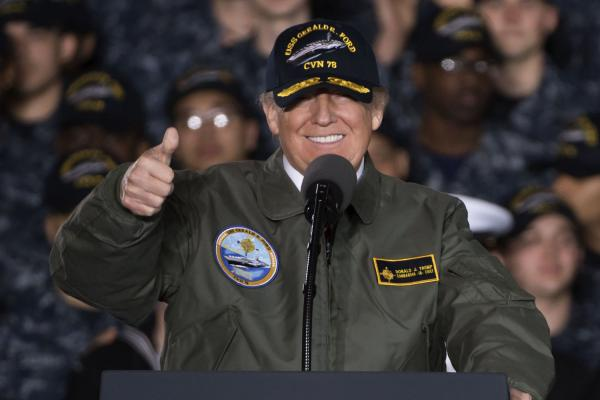 trump-touts-peace-through-strength-aboard-new-navy-carrier-uss-gerald-ford