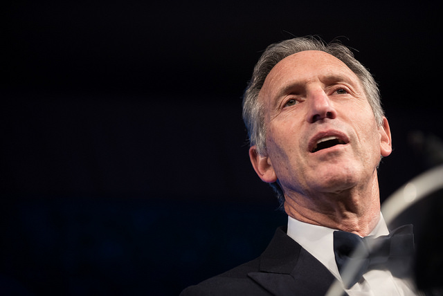 Former Starbucks CEO Howard Schultz is considering an independent presidential run, but there seems to be little to no need or desire for him to run, not to mention his lack of political experience. (Photo Credit: Flickr/Department of Defense/U.S. Army Sgt. James K. McCann/CC BY 2.0)